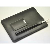 Кожаный мешок (иск. кожа) с отсеком для карт и стилуса для Ipad Pro Черный
