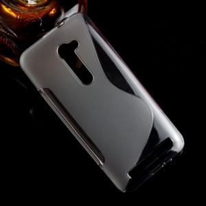 Силиконовый матовый полупрозрачный чехол с дизайнерской текстурой S для Asus Zenfone 2 5
