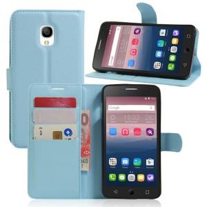 Чехол портмоне подставка на силиконовой основе на магнитной защелке для Alcatel OneTouch Pop Star 3G 5022d