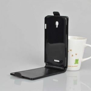 Чехол вертикальная книжка на пластиковой основе на магнитной защелке для Alcatel OneTouch Pop Star 3G 5022d