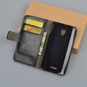Чехол портмоне подставка на пластиковой основе на магнитной защелке для Alcatel OneTouch Pop Star 3G 5022d Черный