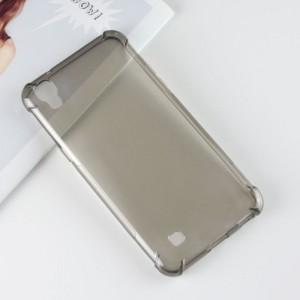 Силиконовый глянцевый полупрозрачный чехол с усиленными углами для LG X Power