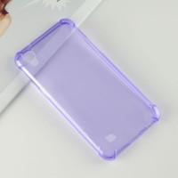 Силиконовый глянцевый полупрозрачный чехол с усиленными углами для LG X Power Фиолетовый