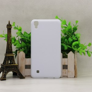 Пластиковый непрозрачный матовый чехол софттач для LG X Power