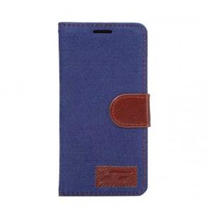Чехол горизонтальная книжка подставка текстура Узоры на силиконовой основе с отсеком для карт на магнитной защелке с тканевым покрытием для Sony Xperia X Performance