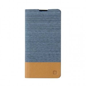 Чехол горизонтальная книжка подставка текстура Линии на силиконовой основе с отсеком для карт на магнитной защелке с тканевым покрытием для Sony Xperia X Performance
