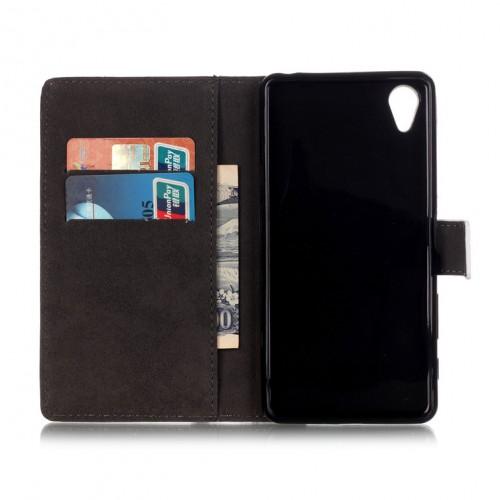 Чехол портмоне подставка на силиконовой основе с полноповерхностным принтом на магнитной защелке для Sony Xperia X Performance