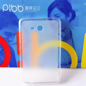 Силиконовый матовый полупрозрачный чехол для Samsung Galaxy Tab 3 Lite Белый
