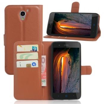 Чехол портмоне подставка на силиконовой основе на магнитной защелке для ZTE Blade A510