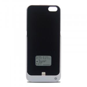 Пластиковый непрозрачный матовый чехол с встроенным аккумулятором 4200 мАч и подставкой для Iphone 5/5s/SE Белый