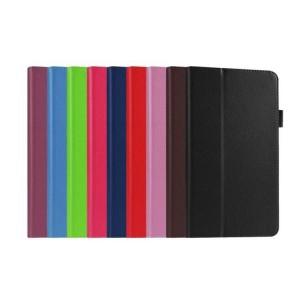 Чехол книжка подставка с рамочной защитой экрана и крепежом для стилуса для Lenovo Tab 3 8