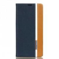 Чехол горизонтальная книжка подставка текстура Линии на силиконовой основе с отсеком для карт на магнитной защелке для Sony Xperia XA Ultra  Синий
