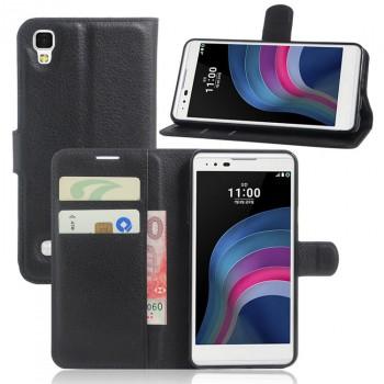 Чехол портмоне подставка на силиконовой основе на магнитной защелке для LG X Style