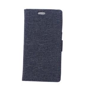Чехол портмоне подставка на силиконовой основе с тканевым покрытием на магнитной защелке для LG X Style
