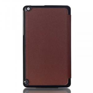 Сегментарный чехол книжка подставка на непрозрачной поликарбонатной основе для Nvidia Shield Tablet  Коричневый