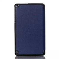 Сегментарный чехол книжка подставка на непрозрачной поликарбонатной основе для Nvidia Shield Tablet  Синий