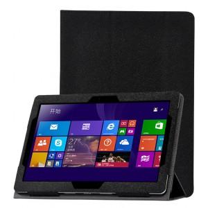 Сегментарный чехол книжка подставка с рамочной защитой экрана текстура Золото для Lenovo IdeaPad Miix 300  Черный