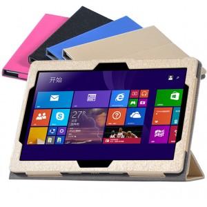 Сегментарный чехол книжка подставка с рамочной защитой экрана текстура Золото для Lenovo IdeaPad Miix 300