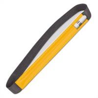 Кожаный мешок (нат. кожа) для Apple Pencil на регулируемом резиновом поясе Желтый