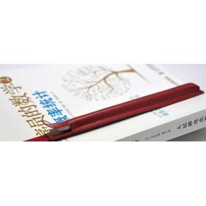 Кожаный мешок для Apple Pencil на регулируемом резиновом поясе Красный