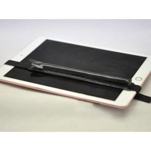 Кожаный мешок для Apple Pencil на регулируемом резиновом поясе Черный