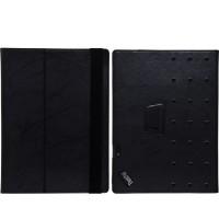Чехол книжка подставка текстура Узоры с рамочной защитой экрана и поддержкой кисти для Lenovo ThinkPad X1 Tablet  Черный