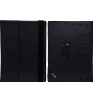 Чехол книжка подставка текстура Узоры с рамочной защитой экрана и поддержкой кисти для Lenovo ThinkPad X1 Tablet