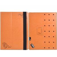 Чехол книжка подставка текстура Узоры с рамочной защитой экрана и поддержкой кисти для Lenovo ThinkPad X1 Tablet  Оранжевый