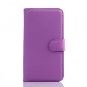 Чехол портмоне подставка на пластиковой основе на магнитной защелке для Lenovo A606  Фиолетовый