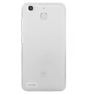 Силиконовый матовый полупрозрачный чехол для Huawei GR3  Белый