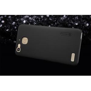 Пластиковый непрозрачный матовый нескользящий премиум чехол для Huawei GR3 Черный