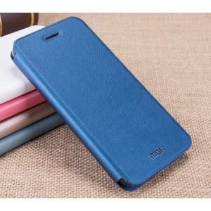 Чехол горизонтальная книжка подставка на силиконовой основе для Huawei GR3  Синий