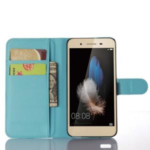 Чехол портмоне подставка на магнитной защелке для Huawei GR3 Голубой