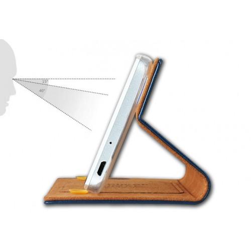 Вощеный чехол горизонтальная книжка подставка на пластиковой основе с отсеком для карт на присосках для Huawei GR3