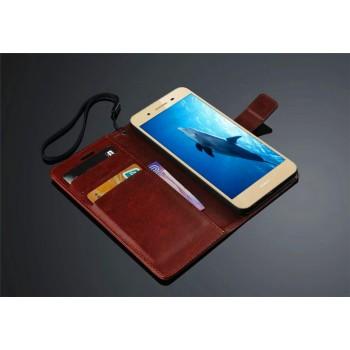 Винтажный чехол портмоне подставка на пластиковой основе на магнитной защелке для Huawei GR3