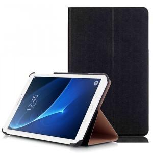 Чехол книжка подставка на непрозрачной поликарбонатной основе для Samsung Galaxy Tab A 7 (2016)  Черный