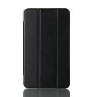 Сегментарный чехол книжка подставка на транспарентной поликарбонатной основе для Samsung Galaxy Tab A 7 (2016)  Черный