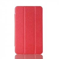 Сегментарный чехол книжка подставка на транспарентной поликарбонатной основе для Samsung Galaxy Tab A 7 (2016)  Красный