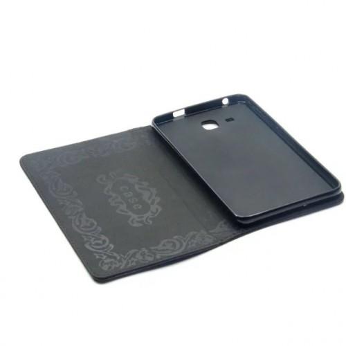 Чехол книжка подставка на непрозрачной силиконовой основе с полноповерхностным принтом для Samsung Galaxy Tab A 7 (2016)