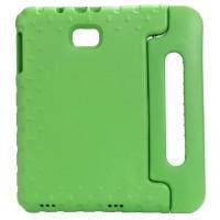 Ударостойкий детский силиконовый матовый гиппоаллергенный непрозрачный чехол с встроенной ножкой-подставкой для Samsung Galaxy Tab A 10.1 (2016)  Зеленый