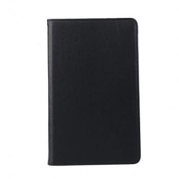 Роторный чехол книжка подставка на непрозрачной поликарбонатной основе для Samsung Galaxy Tab A 10.1 (2016)  Черный