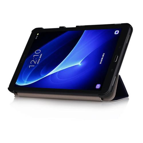 Сегментарный чехол книжка подставка на непрозрачной поликарбонатной основе с полноповерхностным принтом для Samsung Galaxy Tab A 10.1 (2016)