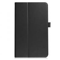 Чехол книжка подставка с рамочной защитой экрана и крепежом для стилуса для Samsung Galaxy Tab A 10.1 (2016) Черный