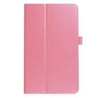 Чехол книжка подставка с рамочной защитой экрана и крепежом для стилуса для Samsung Galaxy Tab A 10.1 (2016) Розовый