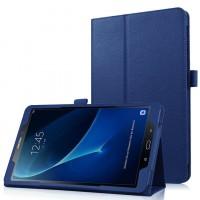 Чехол книжка подставка с рамочной защитой экрана и крепежом для стилуса для Samsung Galaxy Tab A 10.1 (2016) Синий