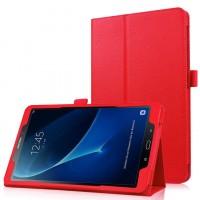 Чехол книжка подставка с рамочной защитой экрана и крепежом для стилуса для Samsung Galaxy Tab A 10.1 (2016) Красный