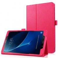 Чехол книжка подставка с рамочной защитой экрана и крепежом для стилуса для Samsung Galaxy Tab A 10.1 (2016) Пурпурный