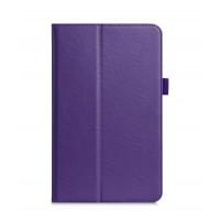 Чехол книжка подставка с рамочной защитой экрана, крепежом для стилуса, отсеком для карт и поддержкой кисти для Samsung Galaxy Tab A 10.1 (2016) Фиолетовый