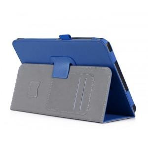 Чехол книжка подставка с рамочной защитой экрана, крепежом для стилуса, отсеком для карт и поддержкой кисти для Samsung Galaxy Tab A 10.1 (2016)