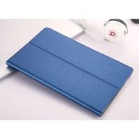 Чехол книжка подставка на непрозрачной поликарбонатной основе для Samsung Galaxy Tab A 10.1 (2016)  Синий